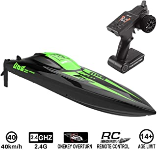 Graysky 2.4Ghz High Speed Hobby Grade Professional RC Remote Radio Control Racing Boat, 40KM/h Huge Large RC Racing Assault Boat with Brushless Motor and Water Cooling for Outdoor Sports