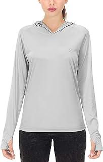 Soniz Women's UPF 50+ UV Sun Protection Long Sleeve Hoodie Quick Dry Lightweight Running Outdoor Shirt