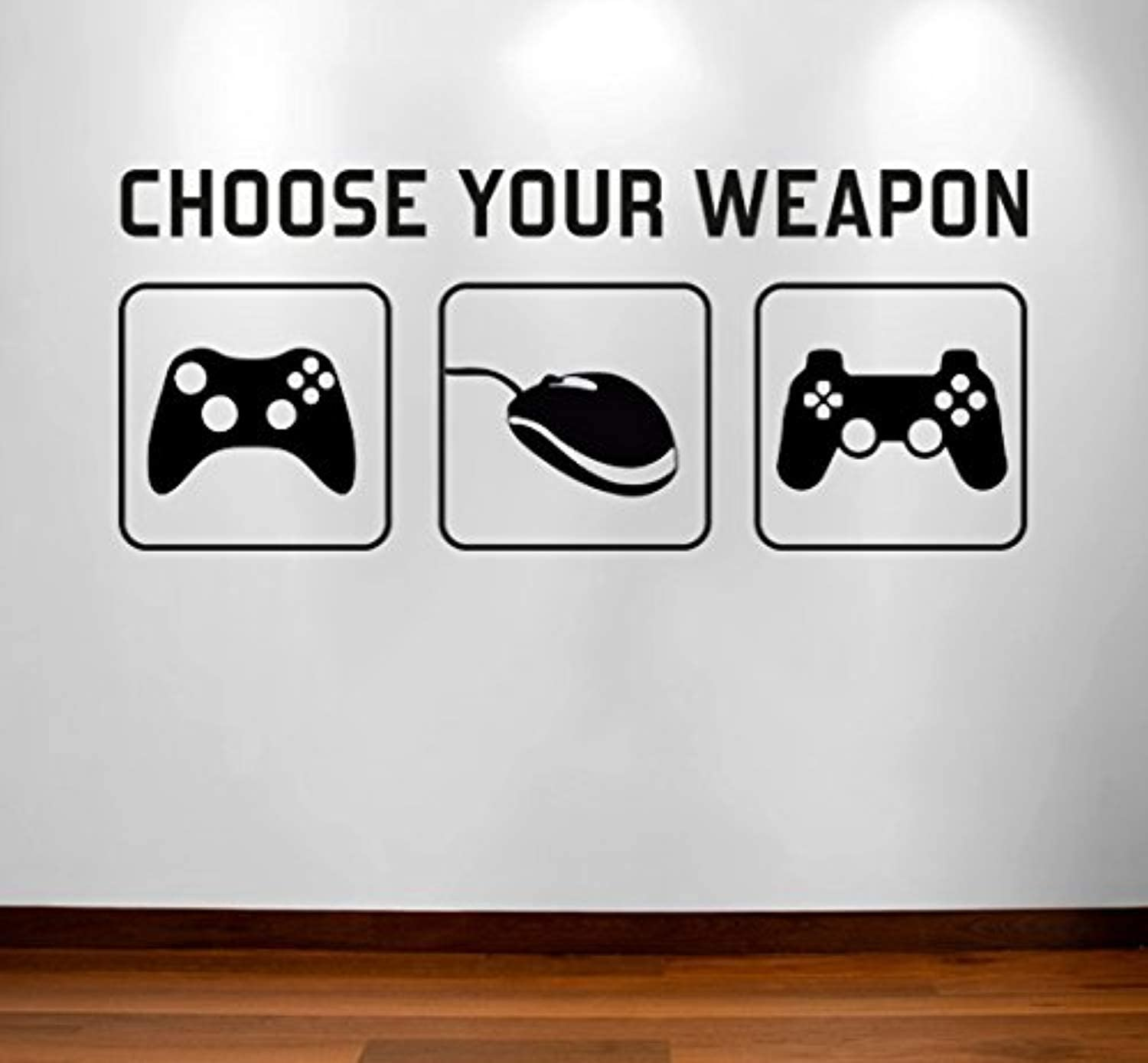 Amazon Com Vinyl Wall Decals Home Decor Choose Your Weapon Video Game Gaming Mural Kids Children Boys Teenager Teens Bedroom Man Cave Room Art Ideas Canvas Sticker