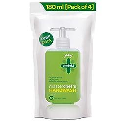 Godrej Protekt Masterchef's Liquid Handwash Refill, Pack of 4 (180ml each)