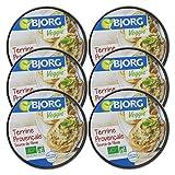 bjorg terrine bio provençale – recette végétarienne – 125 g – lot de 6