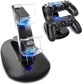 Chargeur pour Manettes PS4, AMANKA Double USB de Charge Rapide Console Contrôleur pour Manette Playstation 4 PS4 / PS4 Sli...