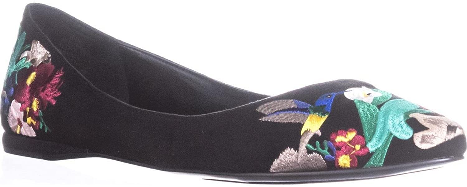 Nine West Womens Suziella Embroidered Ballet Flats