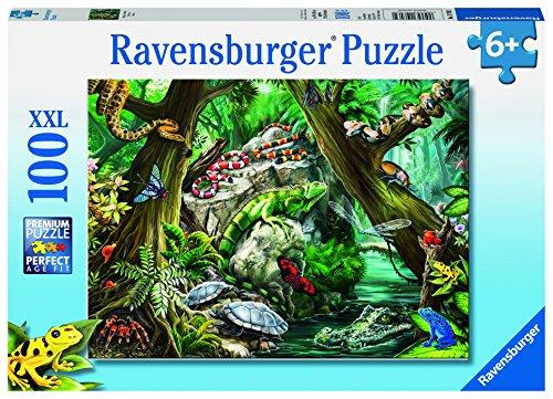 Ravensburger 10703 - Gruselige Tiere - 100 Teile Kinderpuzzle mit extragroßen Teilen