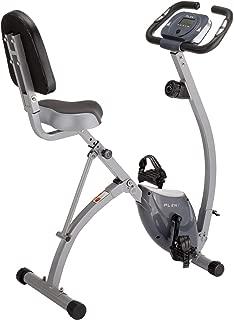 PLENY Foldable Semi-Recumbent Exercise Bike w/Full High Backrest, 330 lbs Weight Capacity