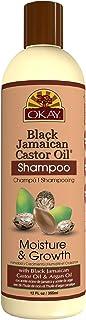 Okay Jamaican Castor Oil Moisture Growth Shampoo, Black, 12 Ounce by Okay