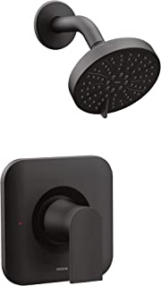 Moen T2472EPBL Genta Posi-Temp Pressure Balancing Eco-Performance Modern Shower Only Trim, Valve Required, Matte Black