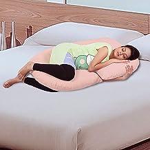 Novo 3Kg Pp Cotton Comfort Pregnancy Pregnancy & Maternity Pillow, Peach - 145X80X25Cm,