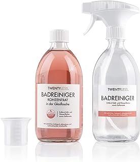Twentyless Badreiniger Starter-Set | Natürliches und ergiebiges Reinigungskonzentrat, Reinigungsmittel | 1 Glasflasche 500ml ersetzt 20 Plastikflaschen