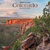 Colorado Wild & Scenic 2020 12 x 12 Inch Monthly Square Wall Calendar with Foil Stamped Cover, USA United States of America Rocky Mountain State Nature