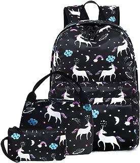 Lmeison Unicorn Backapck, Cavans School Backapcks for Girls Cartoon Bookbags