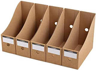 Panavage ファイルボックス A4 紙 小物入れ ファイルスタンド 文具収納 事務用品 組み立て式 5個組