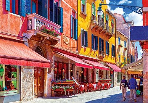 Kodak 1500 Piece - Quaint Café on a Sunny Side Street Venice Italy