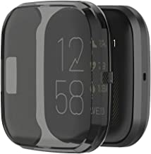 Kaladior Screen Protector Case Cover for Fitbit Versa 2 Health Fitness Smartwatch (Black)
