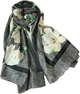 Fashion Women Long Shawl Summer Sunscreen Scarves Printed Silk Scarves 180 * 90cm Light Scarves (Color : A, Size : 180 * 90cm)