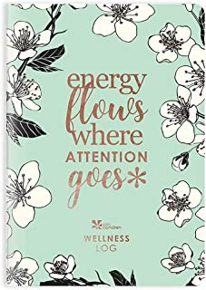 Erin Condren Designer Petite Planner - Wellness Log Edition 2, Track Habits for Sleep, Water Intake, Steps Taken, and Goals. Includes Inspirational and Fun Sticker Set