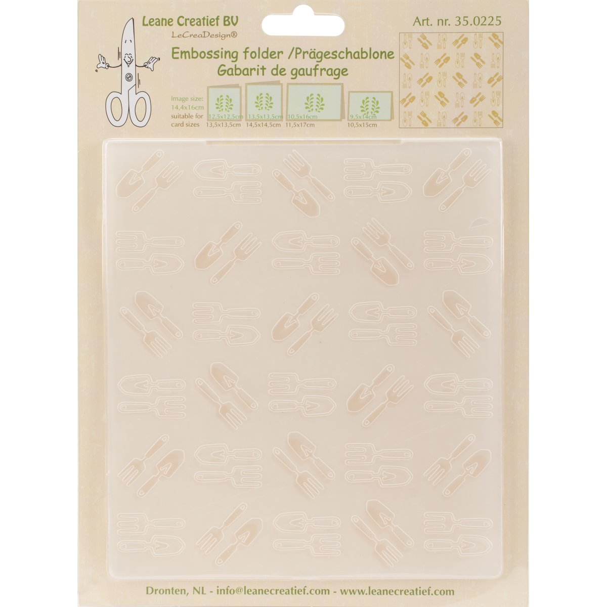 Lea'bilities Embossing Folder, Garden Tools Small