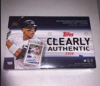 2020 Topps Clearly Authentic MLB Baseball Factory Sealed Hobby Box BRAND NEW