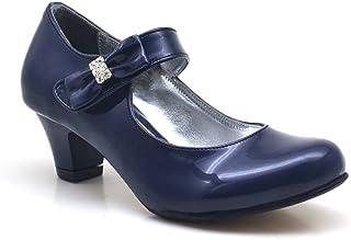 b777664cf9cea Sarıkaya Rugan Taşlı Lacivert Topuklu Kız Çocuk Abiye Ayakkabı