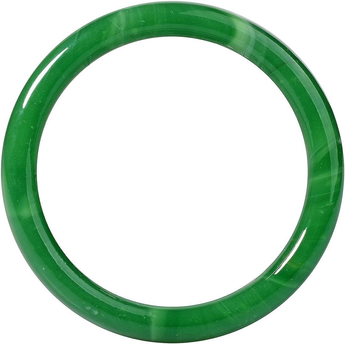 Antiquity Sian Art Light Green Bangle Bracelet for Comeliness- Luck Sign Inside Diameter 2.41 inch