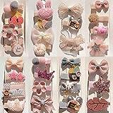 Gobesty Kinder Haarschleifen, 30 Stücke Mehrfarbige Haarspangen Haarbögen Krokodilklemmen für Mädchen Kleinkind Kinder Geburtstagsgeschenk Kindertagsgeschenk