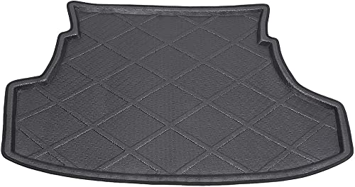 2021 Mallofusa Cargo Liner Rear high quality Cargo Tray Trunk Floor Mat Compatible for Toyota Yaris Vios Belta outlet online sale Limo 2007 2008 2009 2010 2011 2012 2013 Black online sale