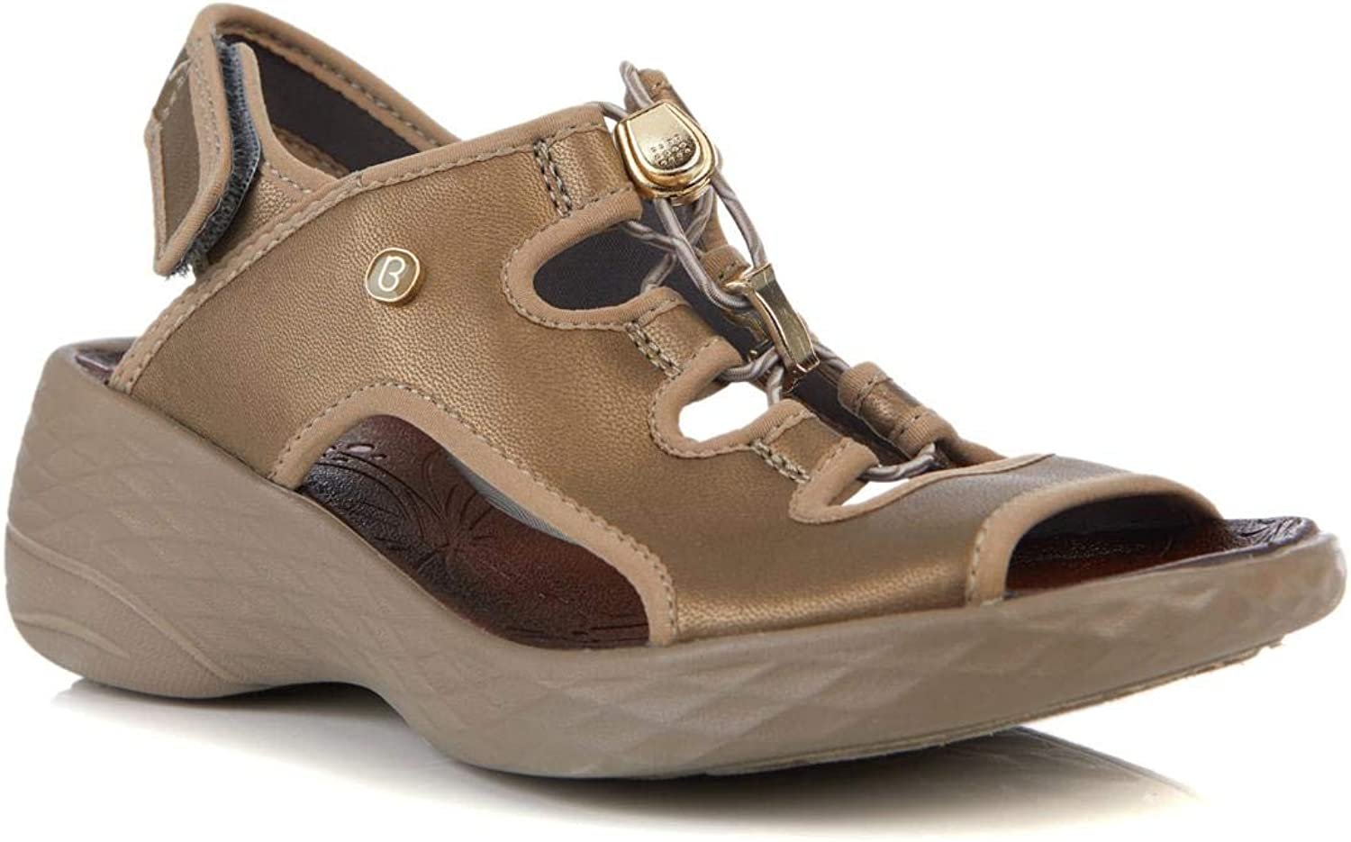 BZees Womens Juicy Open Toe Casual Ankle Strap Sandals