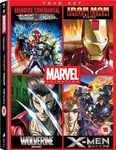 Avengers Confidential: Black Widow & Punisher / Marvel Anime: Ironman - Complete Series / Marvel Anime: Wolverine - Complete Series / Marvel Anime: X-Men - Complete Series - Set [7 DVDs] [UK Import]