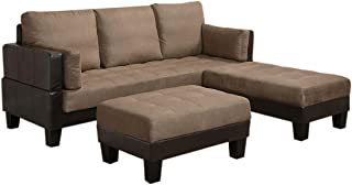 Ellesmere Sofa Bed with 2 Ottomans Tan