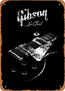 EICOCO Guitars Music Gibson Les Paul Body Plaque Poster Metal Tin Sign 8