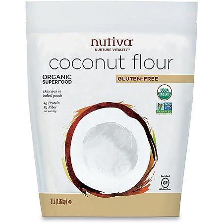 Nutiva Organic, non-GMO, Gluten-free, Unrefined Coconut Flour, 3-pound