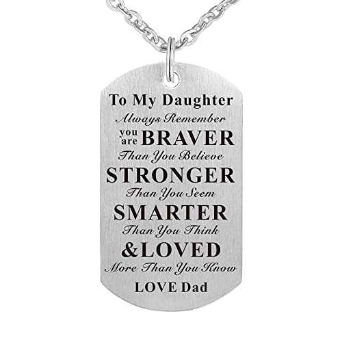 Father Daughter Necklaces: Amazon com