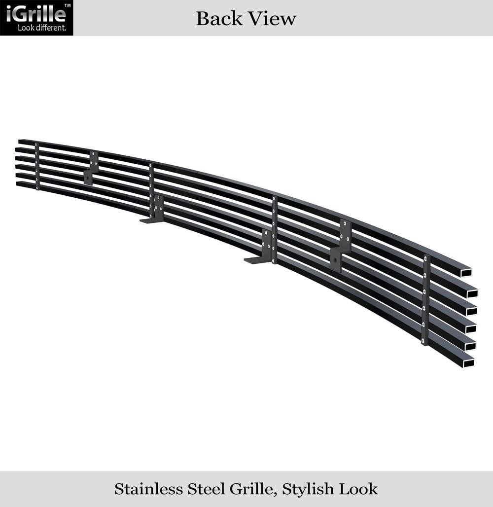 APS Compatible with 2005-2011 Tacoma Lower Bumper Aluminum Black Horizontal Billet Grille Insert T85461H