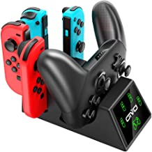 OIVO Switch Joy-Con Controller Charger and Pro Controller Charging Dock for Nintendo Switch, 5 in 1 Fast Charger Docking Station for Nintendo Switch - 2.8FT Type C Cable Included