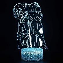 Anime Naruto Uchiha Itachi Uchiha Shisui 3D lamp - Nachtlicht - LED Illusion Night Lamp - Afstandsbediening Slaapkamer Dec...