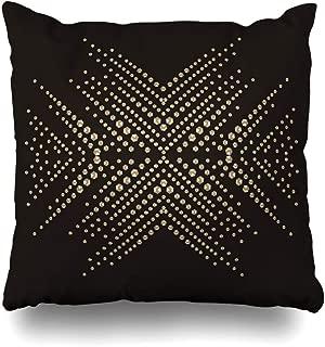 NBTJZT Decorative Throw Pillow Cover Precious Snowflake Rhinestone Applique Luxury Crystal Studs Contemporary Embellishment Brilliants for Home Decor Zippered Square Size 18