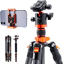 "K&F Concept 68"" Carbon Fiber Camera Tripod,SA255C1 Lightweight Compact Tripod with 360 Degree Ball Head,Quick Release Plat..."