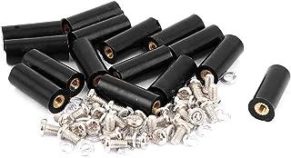 uxcell 15 Pcs M3 Brass Insert Thread 8x20mm Insulated Standoff Terminals