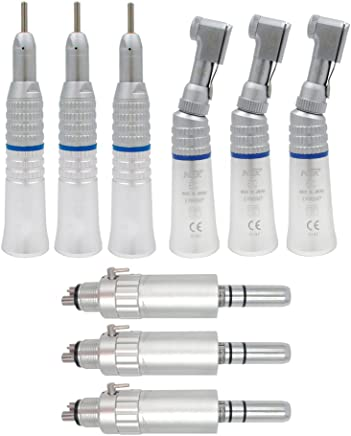 Low Speed Straight + Contra-angle + Air motor Hand Tool Set 4 Holes (Pack of 3)