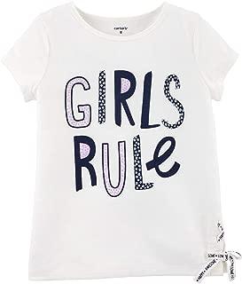 Big Girls' Girls Rule Lace Up Tee Shirt