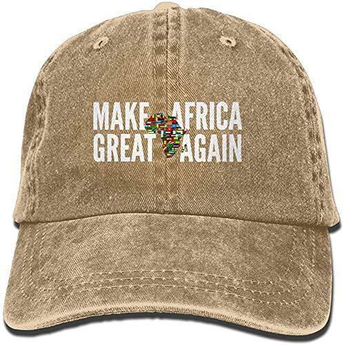 TSDFC AKFJ NKJA Make Africa Great Again Unisex Trucker Hats Dad Baseball Hats Driver Cap,Natural,One Size