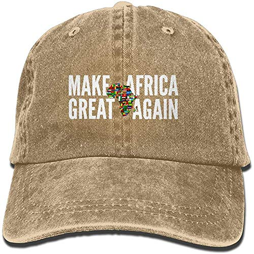 TSDFC AKFJ NKJA Make Africa Great Again Unisex Trucker Hats Dad Baseball Hats Driver Cap,Natural,One Size