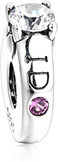EVESCITY Limited Edition Multi Styles #2 925 Sterling Silver Bead for Charms Bracelets Best Jewelry Gifts for Her