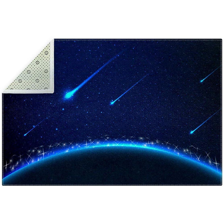 国民投票学んだラショナルAyuStyle ラグ カーペット 200×150cm 星空 夜空 宇宙 ラグマット ホットカーペット フロアマット 個性的 オシャレ 長方形 滑り止め付き