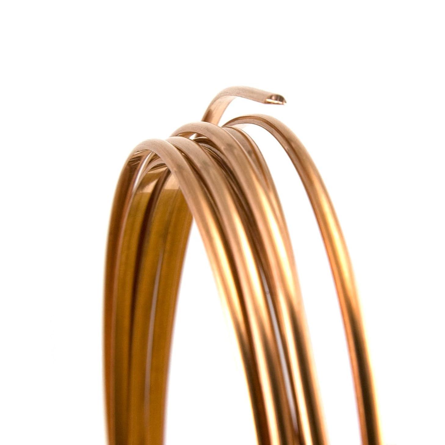 20 Gauge Half Round Half Hard Copper Wire - 25FT