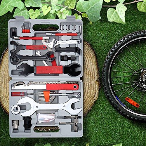Yorbay Fahrrad Werkzeugkoffer 48-TLG Werkzeugset im praktischen Tragekoffer universelles Fahrradwerkzeug zur Fahrradreparatur zu Hause - 2