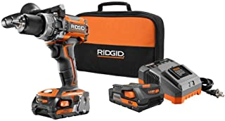Ridgid ZRR86116K 18-Volt Lithium-Ion 1/2 in. Cordless Brushless Compact Hammer Drill Kit (Renewed)