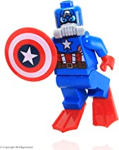 Lego 76048 Scuba Captain America Minifigure Loose New 2016 Super Heroes