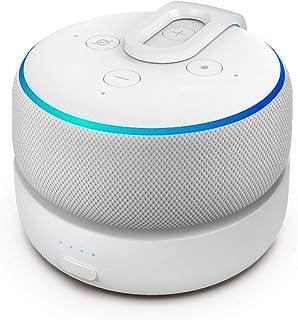 GGMM D3 Base de bateria Alexa Echo Dot 3ª geração, Tornar Amazon Dot3 portátil, Pode jogar por 7 horas, Branca 5200mAh (Ap...