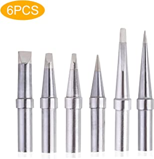 Solder Tips 6pcs for Weller ET Soldering Iron, Replacement Tips for WES51/50,WESD51,PES51 / 50,WE1010NA WCC100 LR21 ET Tip Series (6PCS-01)